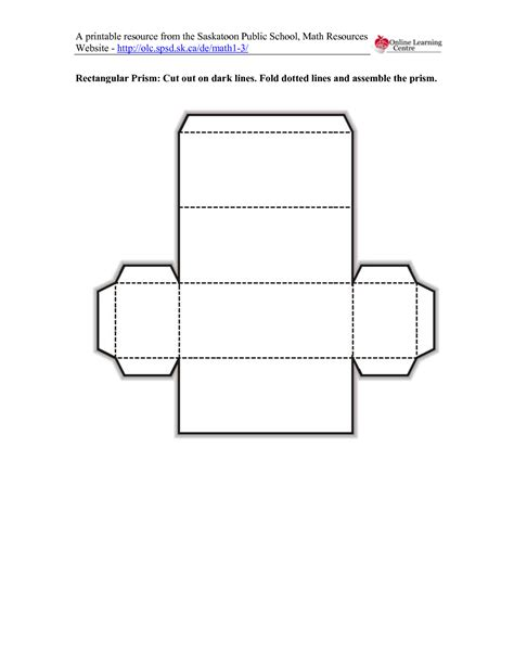 How To Make A 3d Rectangle Out Of Paper - 6 best images of rectangular prism template printable