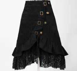 Wholesale clothing women party skirt lace black steampunk street