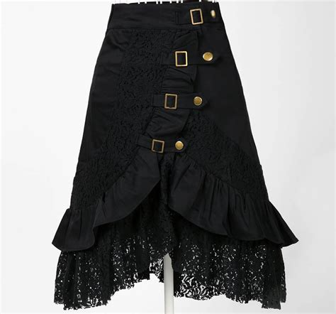 wholesale clothing skirt lace black steunk