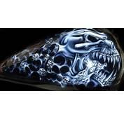 Ghost Skull Airbrush Art From Perth