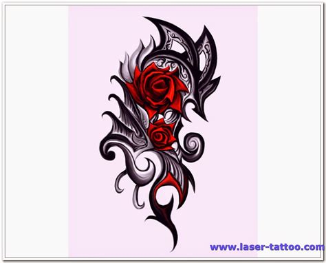 tattoo of a rose in gallery tribal tattoos designs