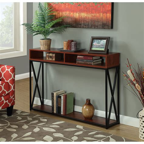 convenience concepts tucson console table convenience concepts tucson deluxe 2 tier console table on