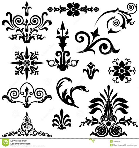 retro vintage design elements vector set vintage design elements stock vector illustration of