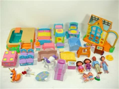 dora talking doll house dora the explorer talking dollhouse greenhouse pool furniture family figures ebay