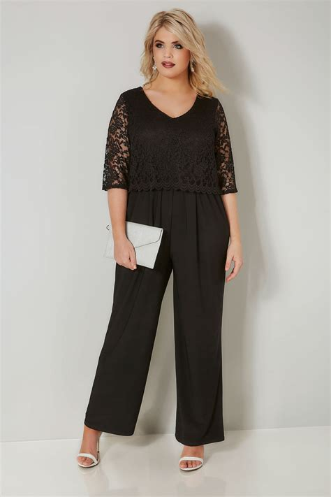 add background image to div yours londonblack lace overlay jumpsuit plus size 16 to 36