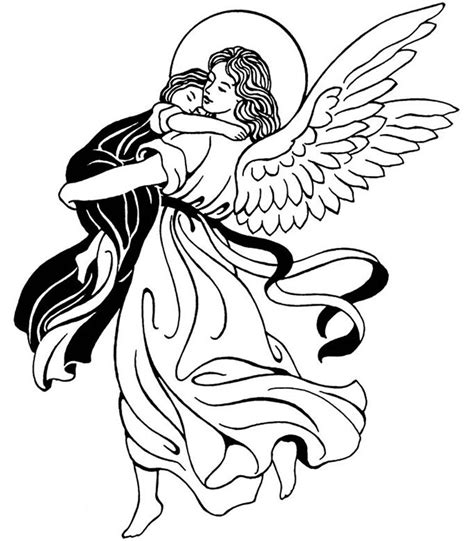 guardian angels coloring page guardian angel catholic coloring page feast of the