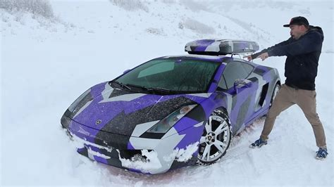 Camouflage Lamborghini Gallardo This Is How You Celebrate A Snow Day With A Lamborghini