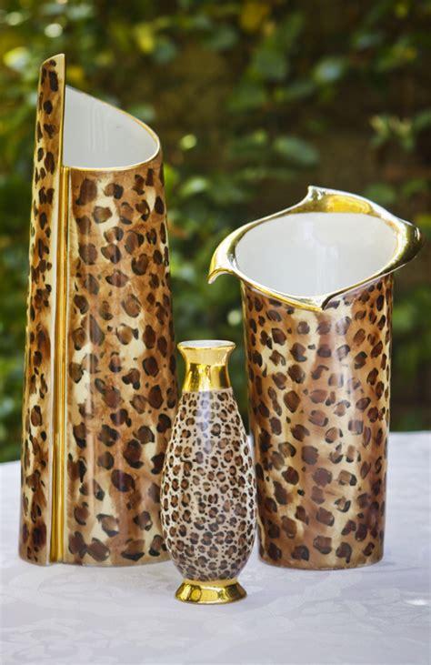 Leopard Print Vase by Modern Leopard And Gold Vases Lissi Kaplan