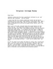 Essay Format Exles For College by College Essay Outline Exles Best College Admission Essays