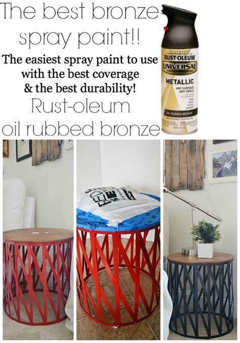diy spray paint projects target table makeover the best bronze spray paint