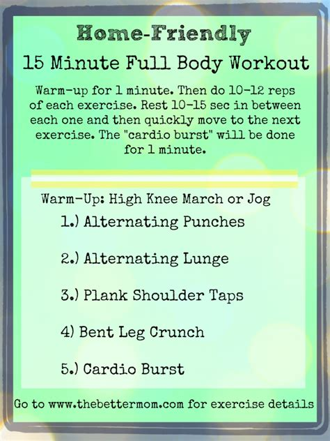 home friendly 15 minute routine better