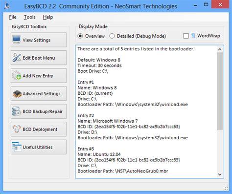 easybcd windows 10 tutorial easybcd 2 2 nun mit windows 8 support deskmodder de