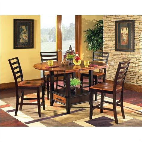 steve silver dining room sets steve silver abaco 5pc round counter dining room set in