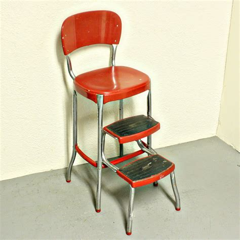 Retro Stool With Steps by Vintage Metal Kitchen Tables And Chairs Kitchen