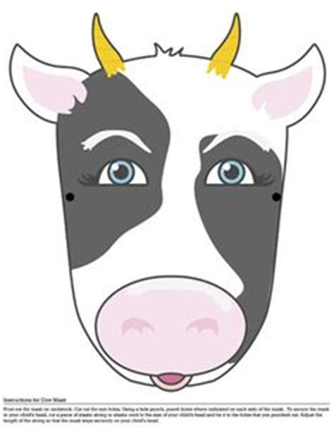 printable cow mask cow themed party pinterest