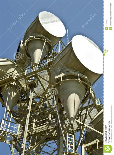 Microwave Bluesky microwave telecommunications tower stock image image
