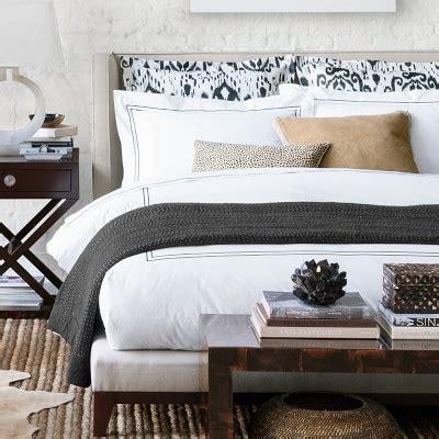 williams sonoma bedding printed ikat sateen bedding williams sonoma