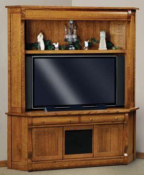 """Old Classic 69"""" 3 Drawer 2 Door Corner TV Center   Amish"""