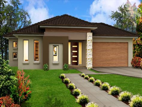 single story home modern one storey house modern house
