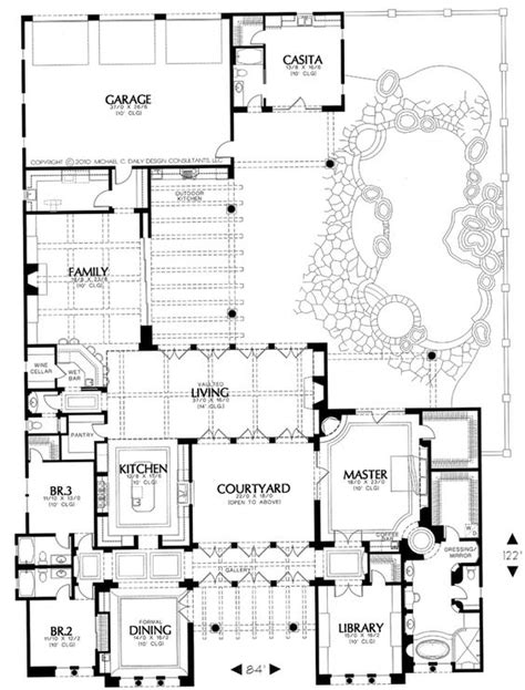 courtyard garage house plans home design and style