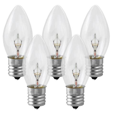 c9 light bulb clear intermediate base