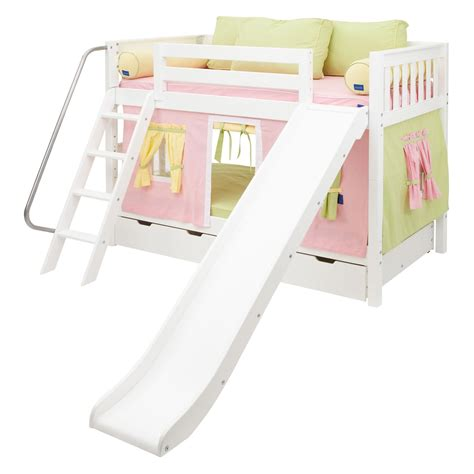 slide beds bunk beds with slide for girls decorate my house