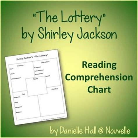 themes in the story the lottery comprehension chart quot the lottery quot by shirley jackson