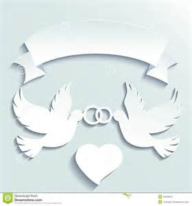 Doves holding wedding rings stock vector image 42230570