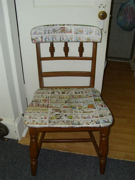 decoupage a chair 301 moved permanently