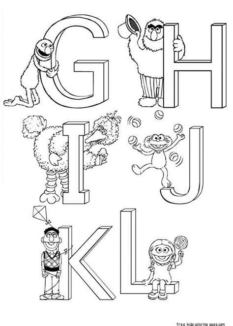 printable alphabet letters sesame street print out sesame street alphabet coloring sheets for