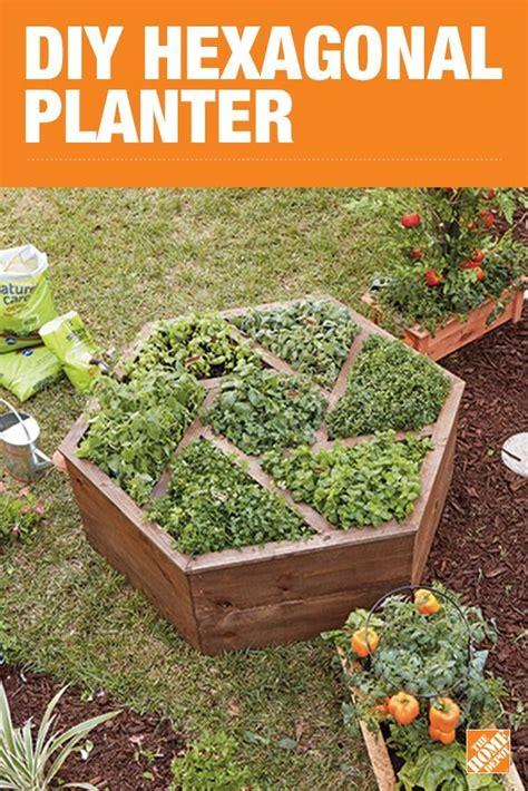unique diy hexagon planter raised garden beds garden