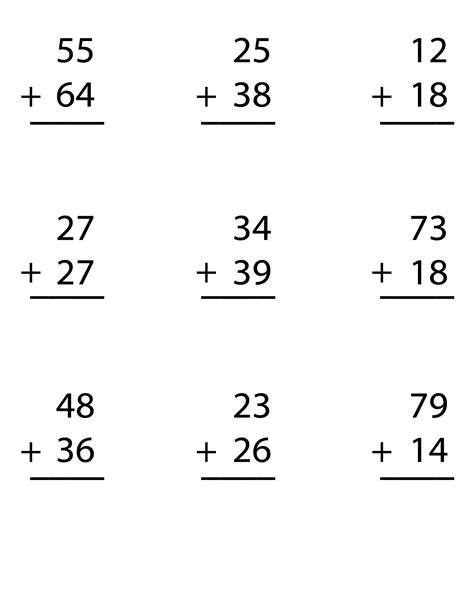 Common Math Worksheets For 2nd Grade by Try Our Free Worksheet For Digit Addition