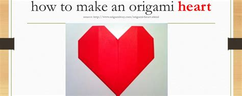 How To Make Origami Hearts - how to make an origami east west players the