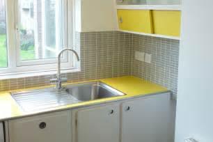 kitchen retro yellow gray white home