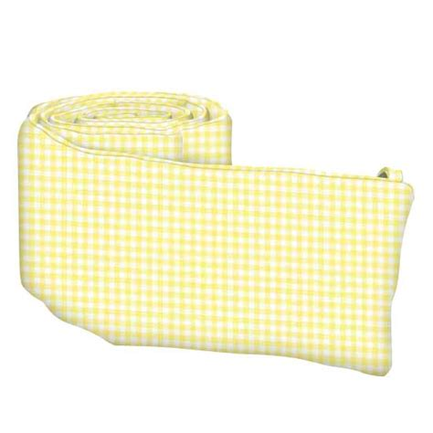 pastel yellow gingham woven crib toddler sheets