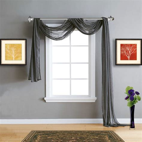 Charcoal Gray Curtains Designs Warm Home Designs Gray Charcoal Sheer Curtains Window Scarf Valances Warmhomedesigns
