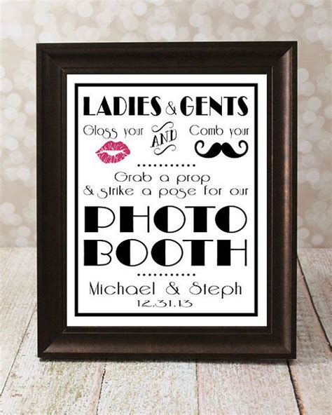 printable photo booth prop signs personalized photo booth diy printable style 2 1920 s
