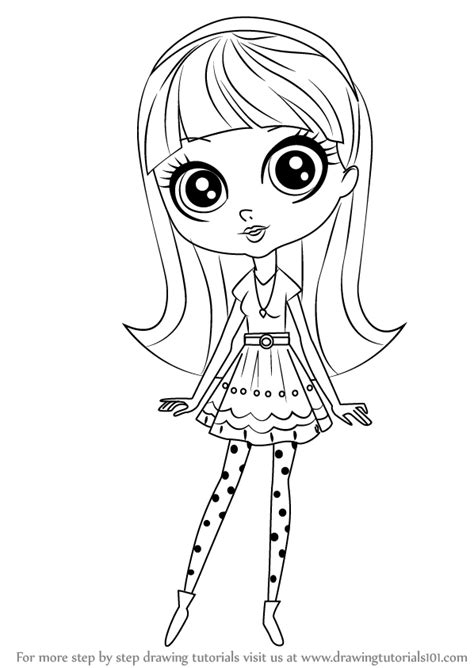 lps blythe coloring pages learn how to draw blythe baxter from littlest pet shop