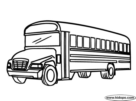 city bus 1 coloring page