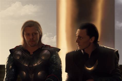 film victoria thor thor and loki at sunset by marinaschiffer on deviantart