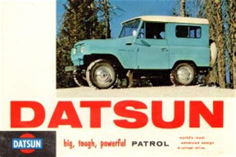 datsun patrol touchup paint codes image galleries brochure and tv commercial archives