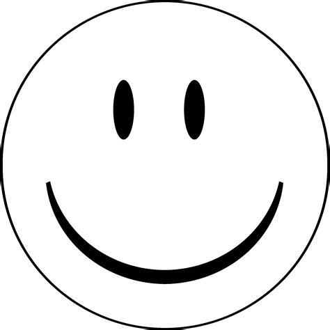 happy face coloring page clipart best