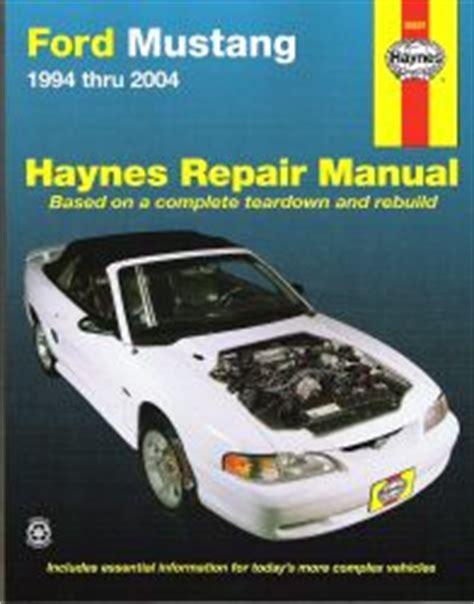 1994 2004 ford mustang haynes repair manual