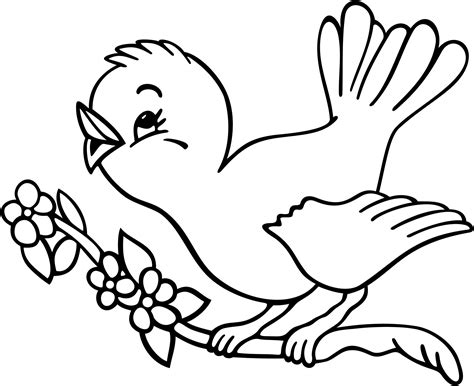 Unparalleled Bird Pictures For Kids To Color Birds Coloring Pages Cute Tweety Beautiful Pictures For