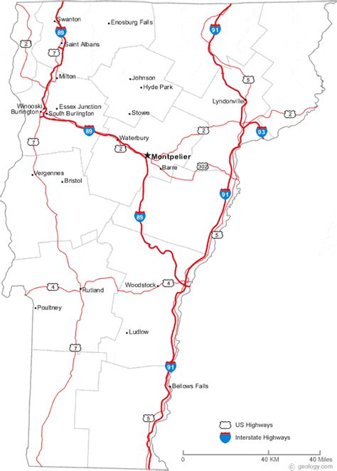 road map of vt map of southern vermont counties