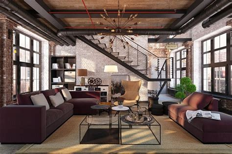 desain interior industrial desain interior ruang tamu industrial yang atraktif