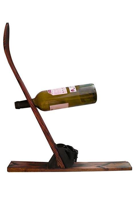 Wooden Ski Rack by Wood Ski Wine Rack Vintagewinter