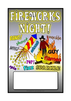 Firework Safety Posters Template