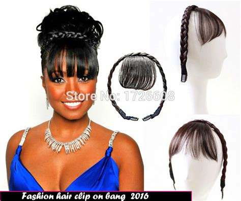 Braids Hairstyles For Black With Bangs by Buy Wholesale Hairstyles Bangs From China