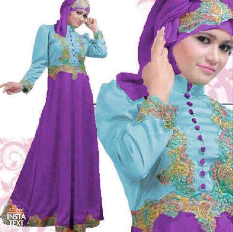 Baju Muslim Terusan Maxi Gamis Princess baju gamis pesta satin princess biru ungu s78 gaun saten